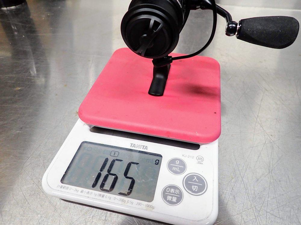 重量は165g